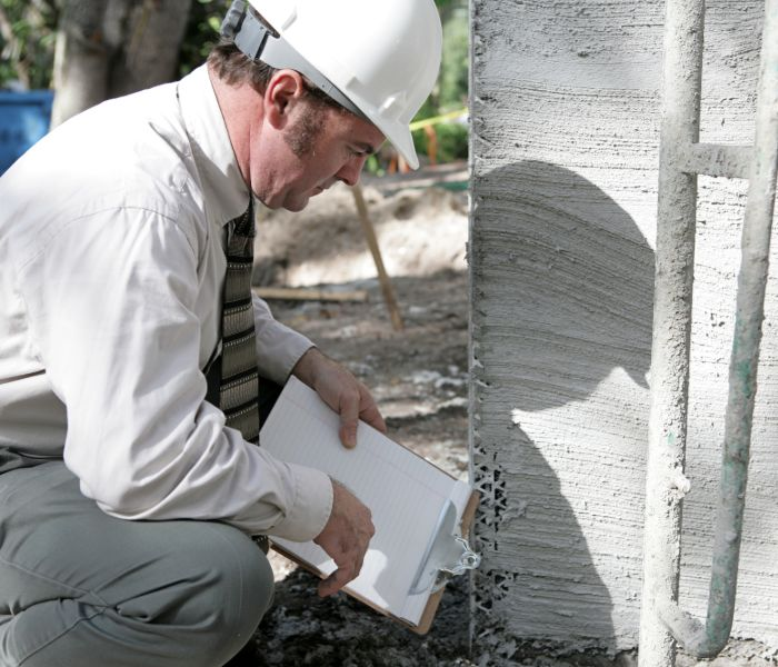 structural engineer doing foundation inspection in Oklahoma City